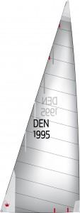 1995 - Mit kurzen Latten kann das Achterliek bereits gerade geschnitten werden